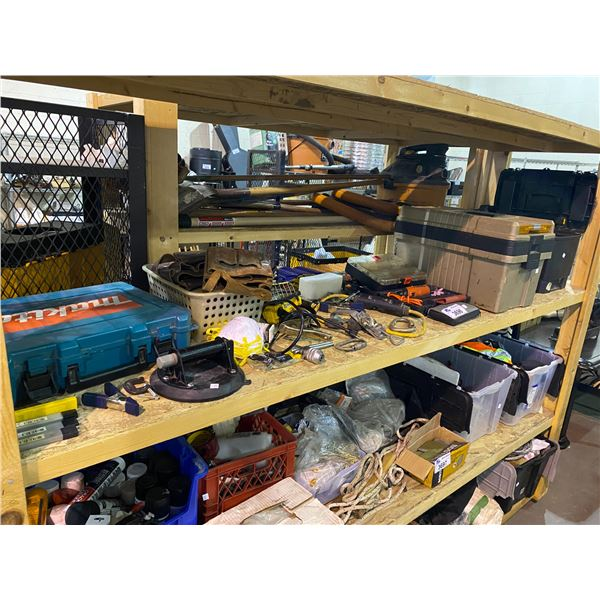 TOOL BOXES WITH CONTENTS, ASSORTED TOOLS, LIGHT, & MORE