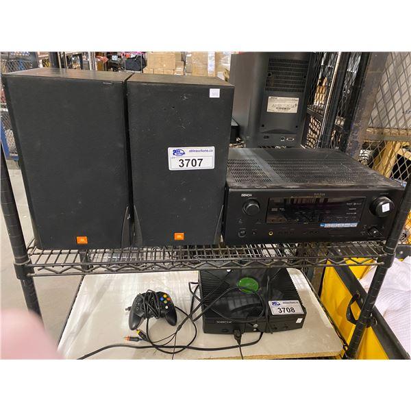 DENON AV SURROUND RECEIVER AVR-588 & 2 JBL SPEAKERS