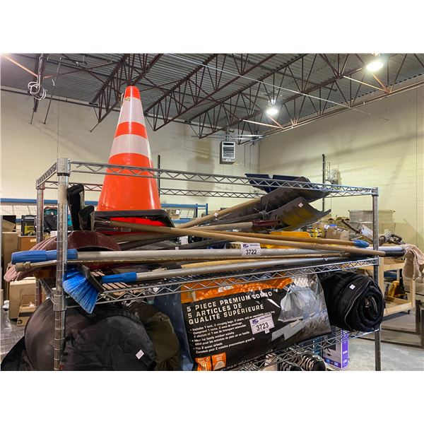 SHOVELS, SQUEEGEES, CONE, & MORE