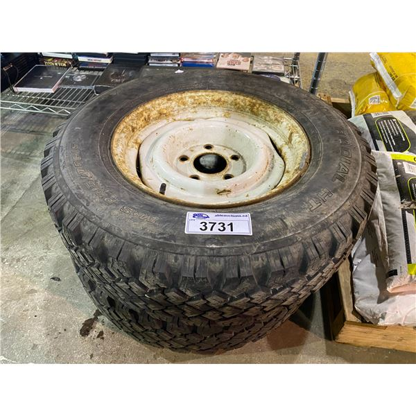 2 TIRES WITH RIMS 215 75 R15