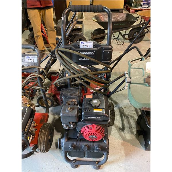 SIMONZ PLATINUM SERIES 3000PSI PRESSURE WASHER MAY NEED REPAIRS &/OR MISSING PIECES