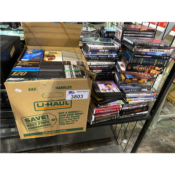 ASSORTED DVDS/VHS