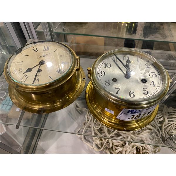 2 NAUTICAL SHIPS CLOCK: BULOVA & SESTREL