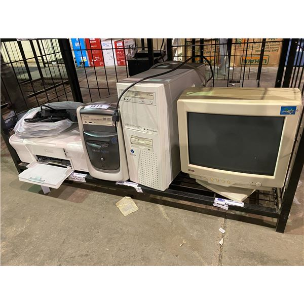 2 COMPUTERS, HP LAPTOP, & COMPUTER MONITOR