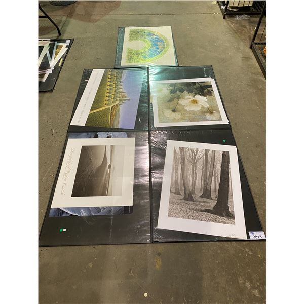 5 SHEETS OF ASSORTED ART &/OR PRINTS