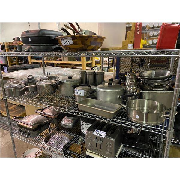 ASSORTED POTS & KITCHEN RELATED ITEMS