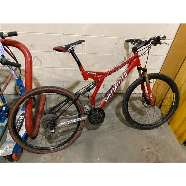 SPECIALIZED STUMP JUMPER FSR XC 27 SPEED BICYCLE
