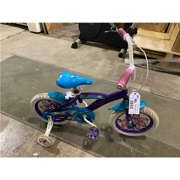 HUFFY CHILDRENS BICYCLE WITH TRAINING WHEELS