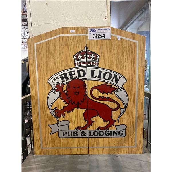 RED LION PUB & LODGING DART BOARD SET UP