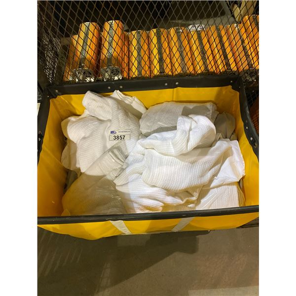 ASSORTED LINENS ROLLING BIN NOT INCLUDED