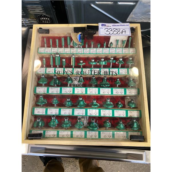 50 PC ROUTER BIT SET FOR WOOD WORKING