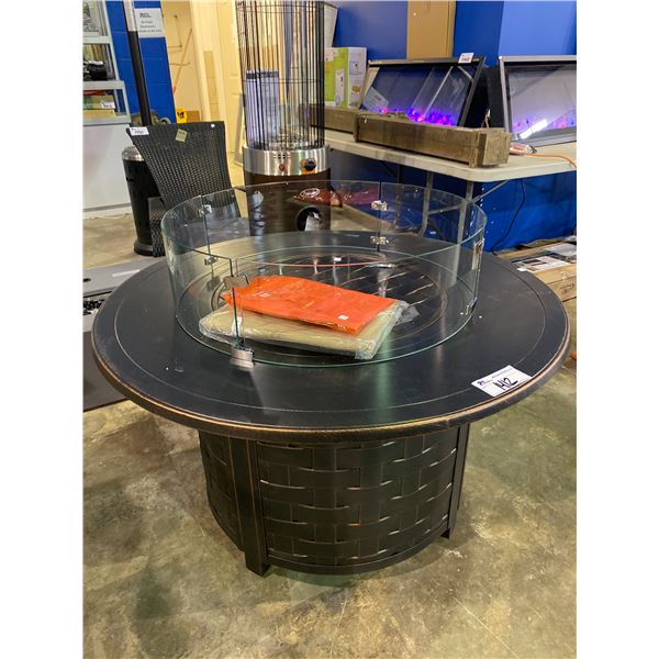 """OUT OF BOX PARAMOUNT OUTDOOR FIREPIT 44"""" DIAMETER WITH GLASS GUARD"""