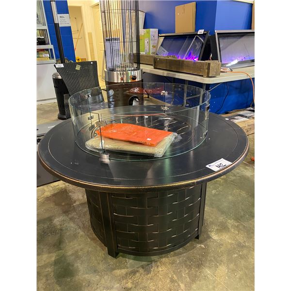 """IN BOX PARAMOUNT OUTDOOR FIREPIT 44"""" DIAMETER WITH GLASS GUARD"""
