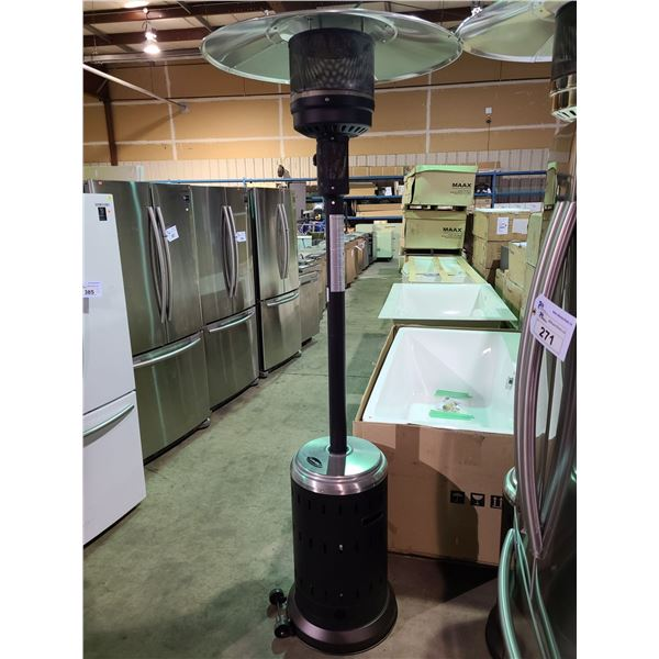 """OUT OF BOX PARAMOUNT OUTDOOR PATIO HEATER BLACK 18.11 X 18.11 X 30.9"""""""