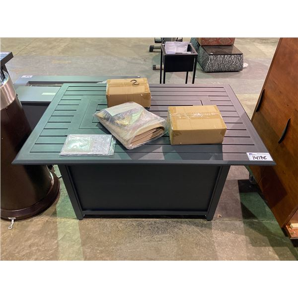 """OUT OF BOX PARAMOUNT GALE RECTANGULAR OUTDOOR FIREPIT TABLE 45.5 X 30.5"""""""