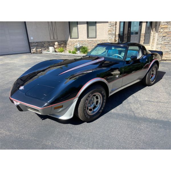 1978 CHEVROLET CORVETTE L82 25TH ANNIVERSARY EDITION ONLY 254KMS