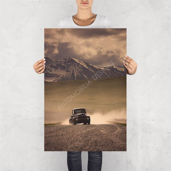 """NO RESERVE LIMITED EDITION PRINT """"MERC TRUCK""""  LIMITED EDITION GLOSSY PRINTS BY AUTOMOBILIA DESIGNZ"""