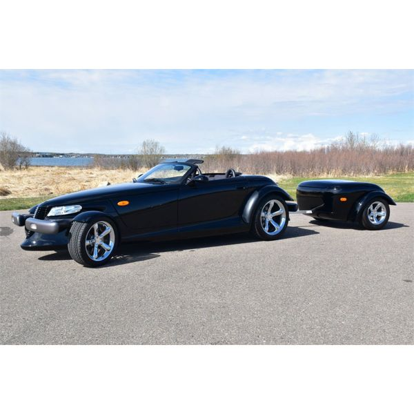1999 PLYMOUTH PROWLER CONVERTIBLE WITH TRAILER ONLY 1922MILES
