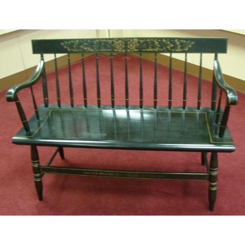 Enjoyable Genuine Hitchcock Black Harvest Bench Ocoug Best Dining Table And Chair Ideas Images Ocougorg