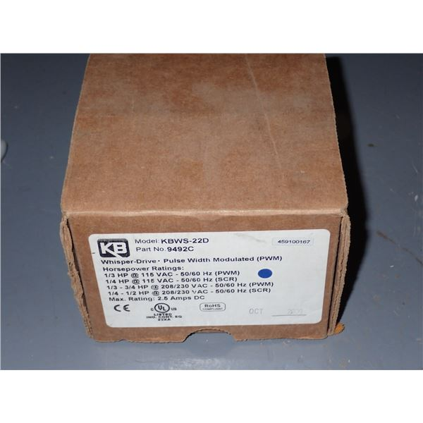 KB Electronics #KBWS-22D PWM DC motor control 9492C