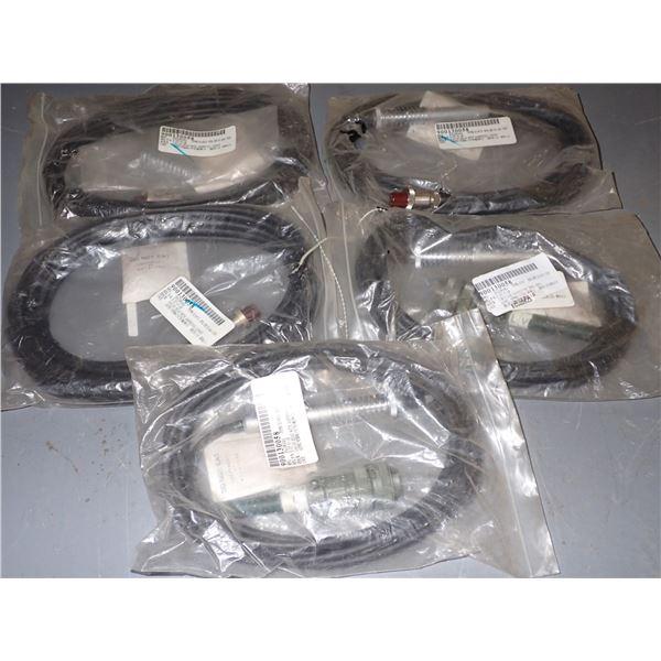 Lot of (5) Hagiwara Gauge Heads w/ Amphenol Connector