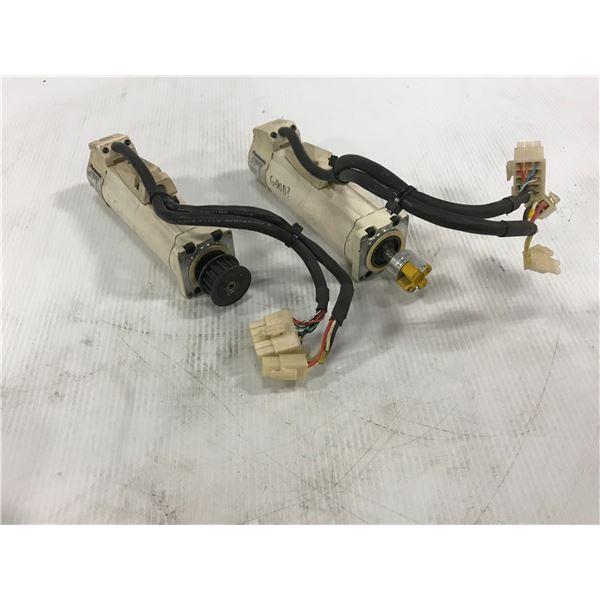 (2) PANASONIC MSMA012A1D AC SERVO MOTOR