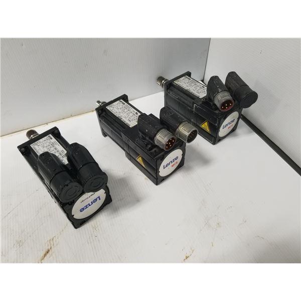 (3) LENZE MCS 06C41-RS0P1-Z0B0-ST5S00N-R0SU SERVO MOTOR