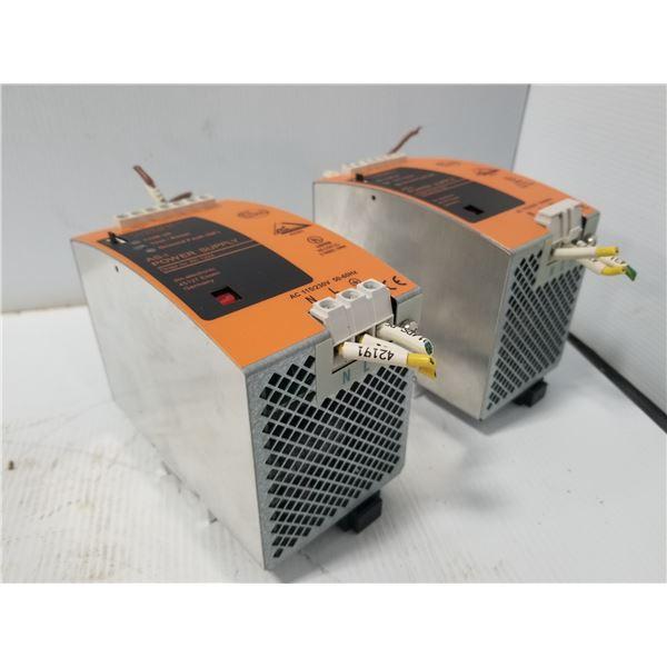 (2) IFM AC 1224 POWER SUPPLY