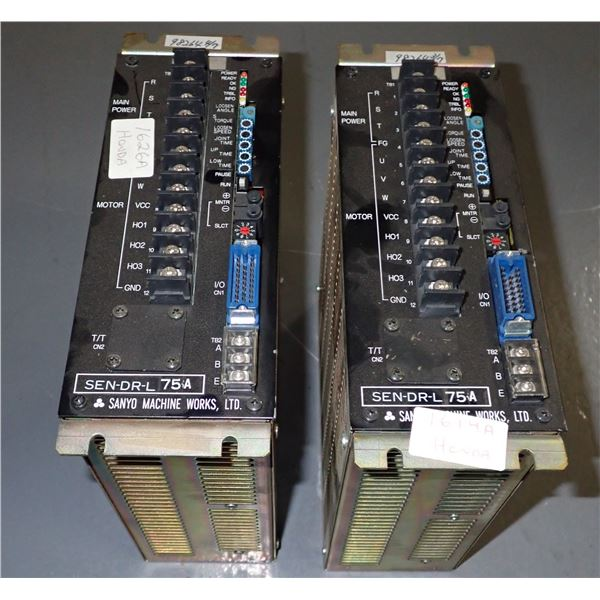 Lot of (2) Sanyo #SEN-DR-L 75 A Drives