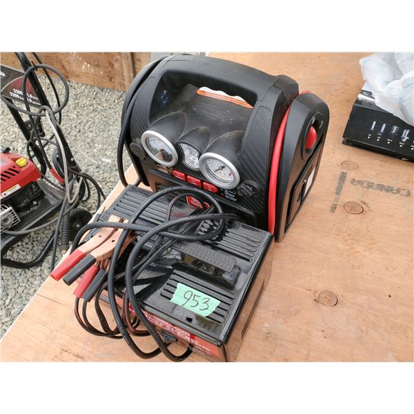 Motomaster Battery Charger and Air Compressor With Jumpstarter