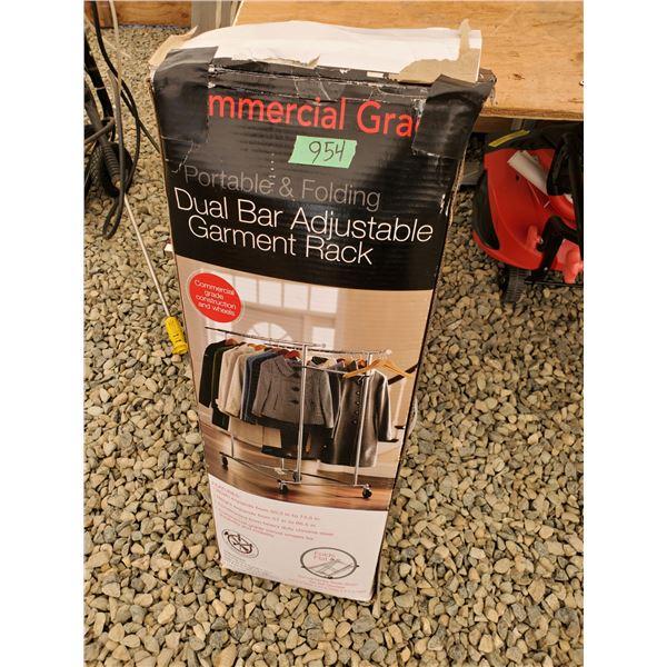 Commercial Grade Dual Bar Adjustable Garment Rack