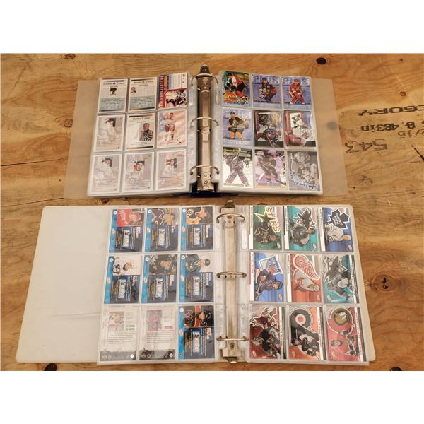 2 Binders of Various NHL Trading Cards
