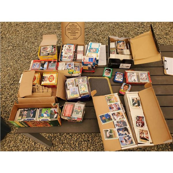 Large Lot of Various MLB Trading Cards - Some NBA