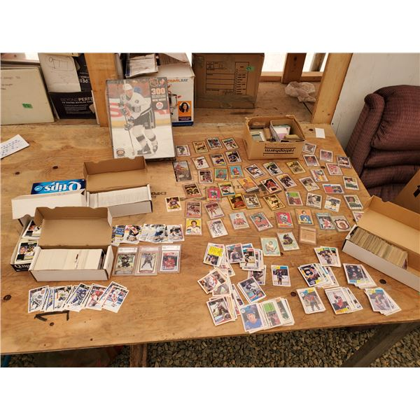 Large Lot of Various NHL Trading Cards And Puzzle