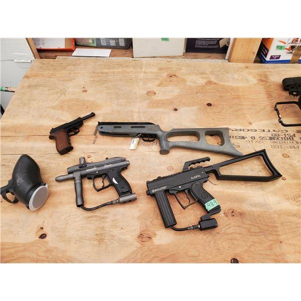 2 Paintball Guns, Pellet Pistol and Rifle