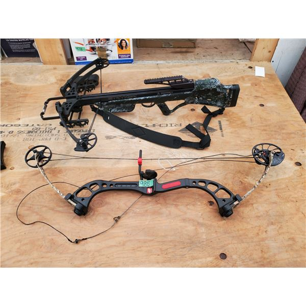 PSE Chaos Compound Bow and Stryker Strykyzone 350 Crossbow