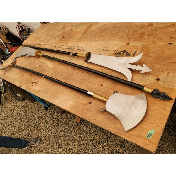 Lot of 3 Medieval Style Weapons - Live Action Roleplay Or Decoration