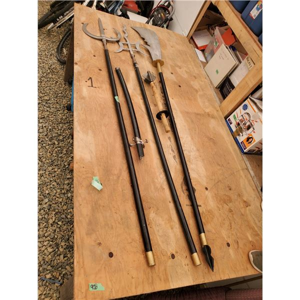 Lot of 5 Medieval Style Weapons - Live Action Roleplay Or Decoration