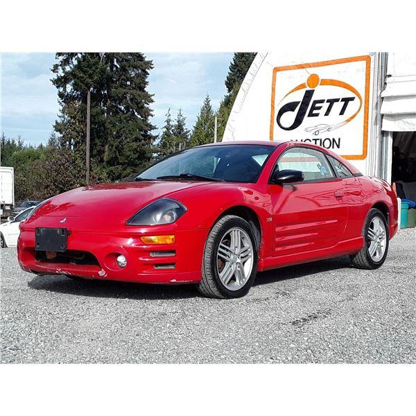 D5 --  2003 MITSUBISHI ECLIPSE GT , Red , 194935  KM's