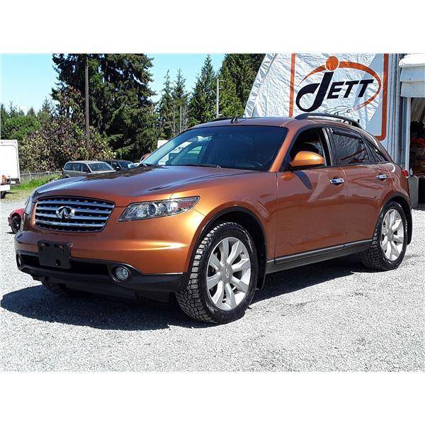 B6 --  2003 INFINITI FX45 , Orange , 190333  KM's