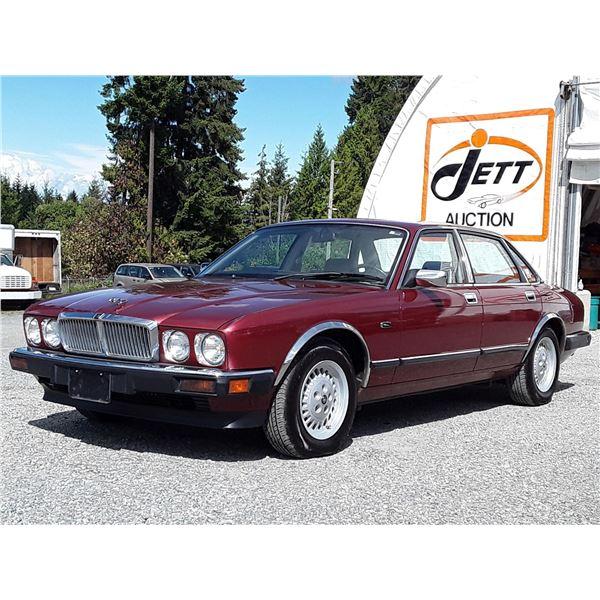 """A2 --  1991 JAGUAR XJ6  , Red , 183041  KM's  """"NO RESERVE"""""""
