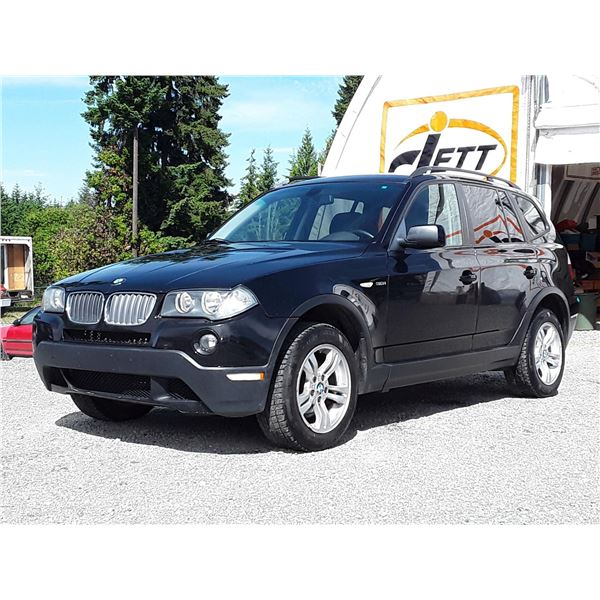 I2 --  2008 BMW X3 3.OI , Black , 253376  KM's