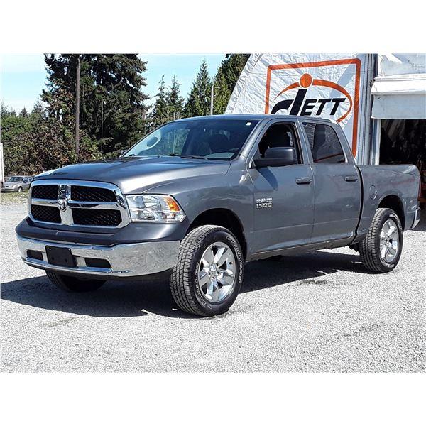 K1 --  2013 DODGE RAM 1500 ST CREW CAB 4X4 , Grey , 215779  KM's