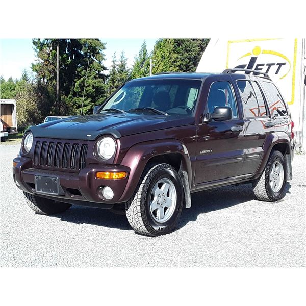 E2 --  2004 JEEP LIBERTY LTD 4X4 , Red , 204656  KM's