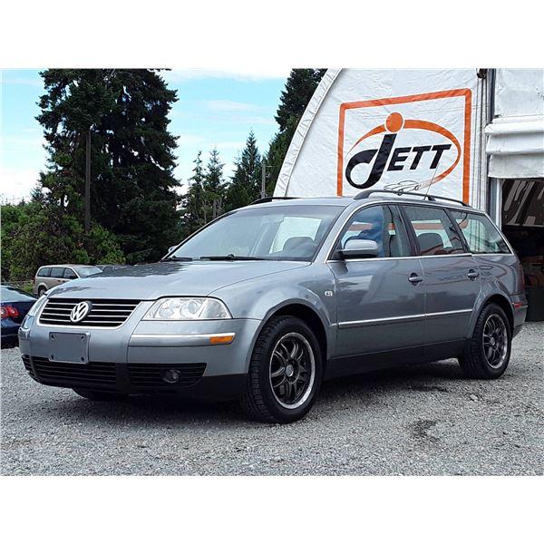 E1 --  2002 VW PASSAT GLS , Grey , 174278  KM's