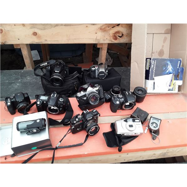 Lot of 9 Cameras and More