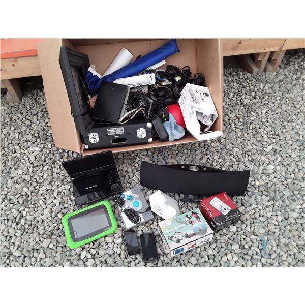 Box lot of Misc. Electronics