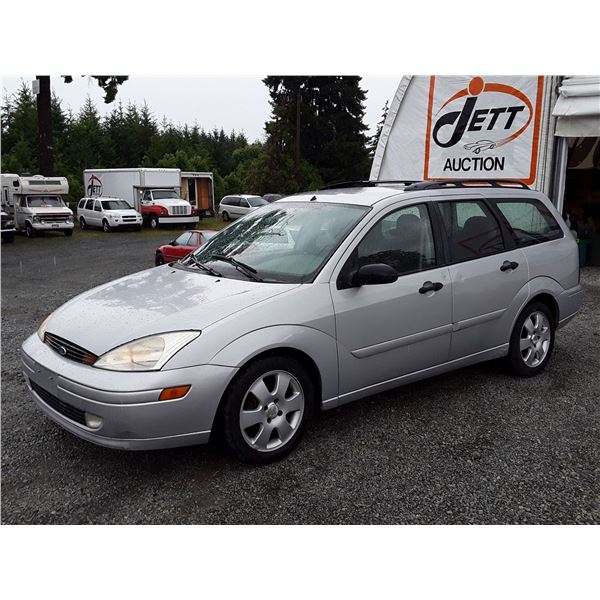 A3 --  2002 FORD FOCUS WAGON, Silver , 219649  KM's