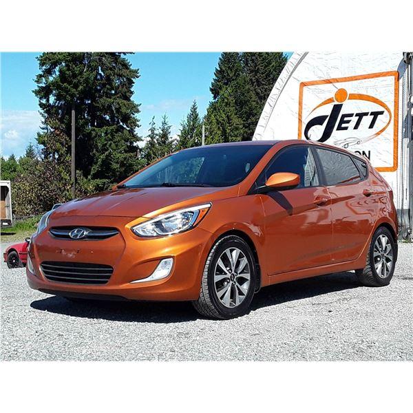 H6G --  2016 HYUNDAI ACCENT SE , Orange , 147467  KM's