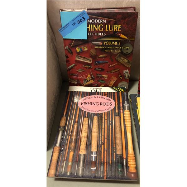 3 Collectible books on vintage fishing tackle